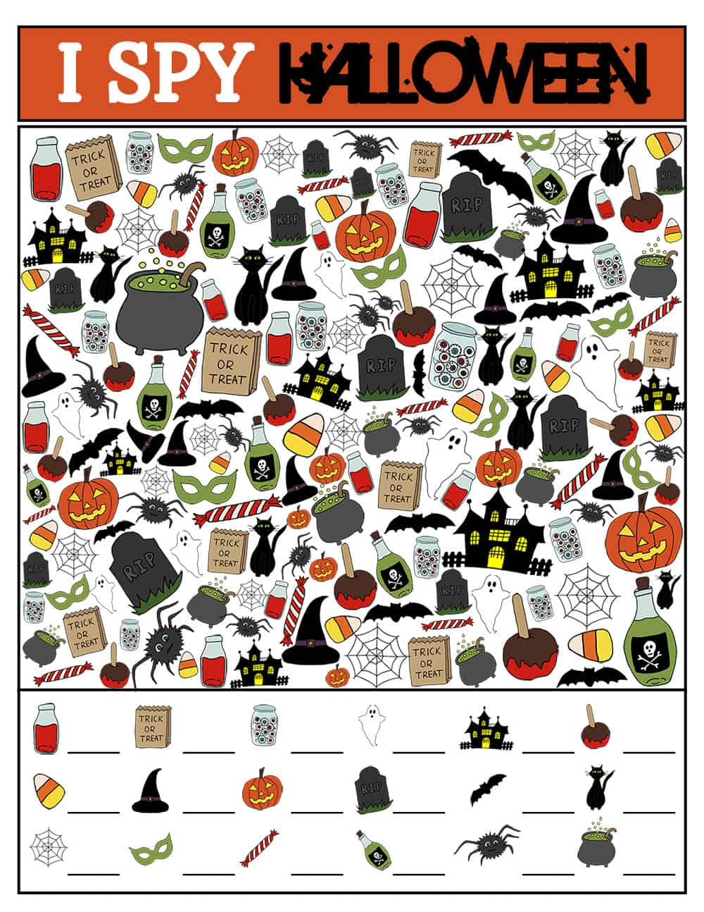 photograph about I Spy Printable named Halloween I Spy Printable Sport Around The Substantial Moon