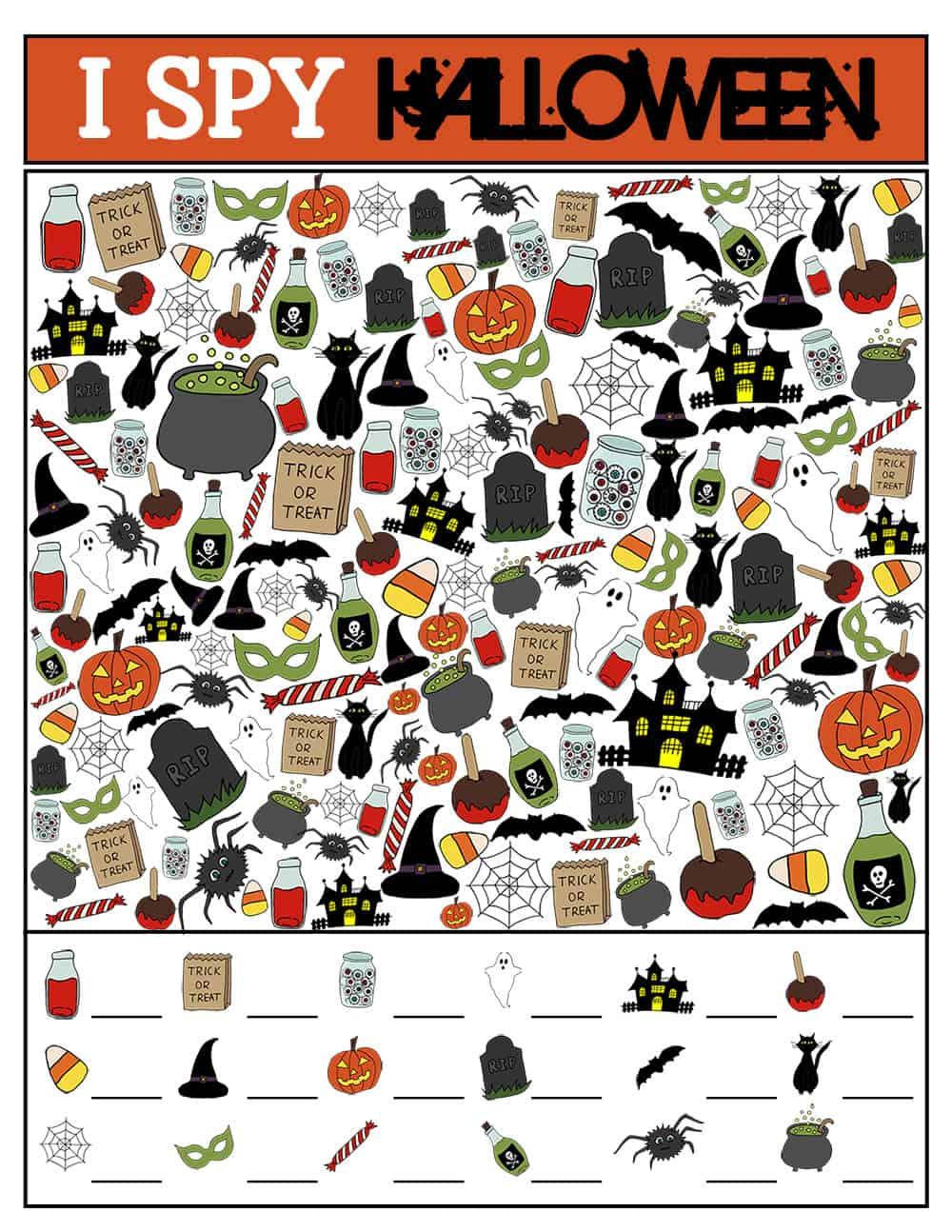 picture regarding I Spy Printable identify Halloween I Spy Printable Match Around The Significant Moon