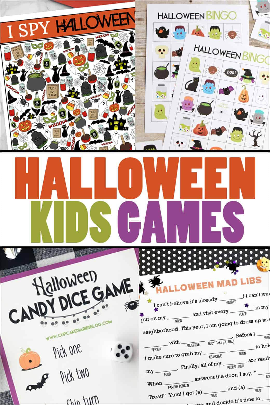 photo about Halloween Printable Games referred to as Halloween I Spy Printable Activity In excess of The Large Moon