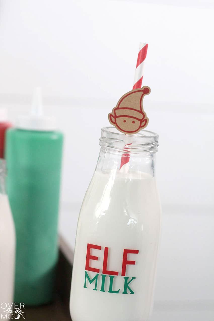 Elf Milk Bottles Tutorial from overthebigmoon.com!