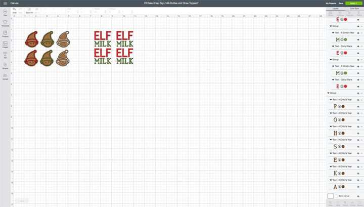 Elf Straw Toppers & Milk Bottles Design Space File for Cricut! From overthebigmoon.com!