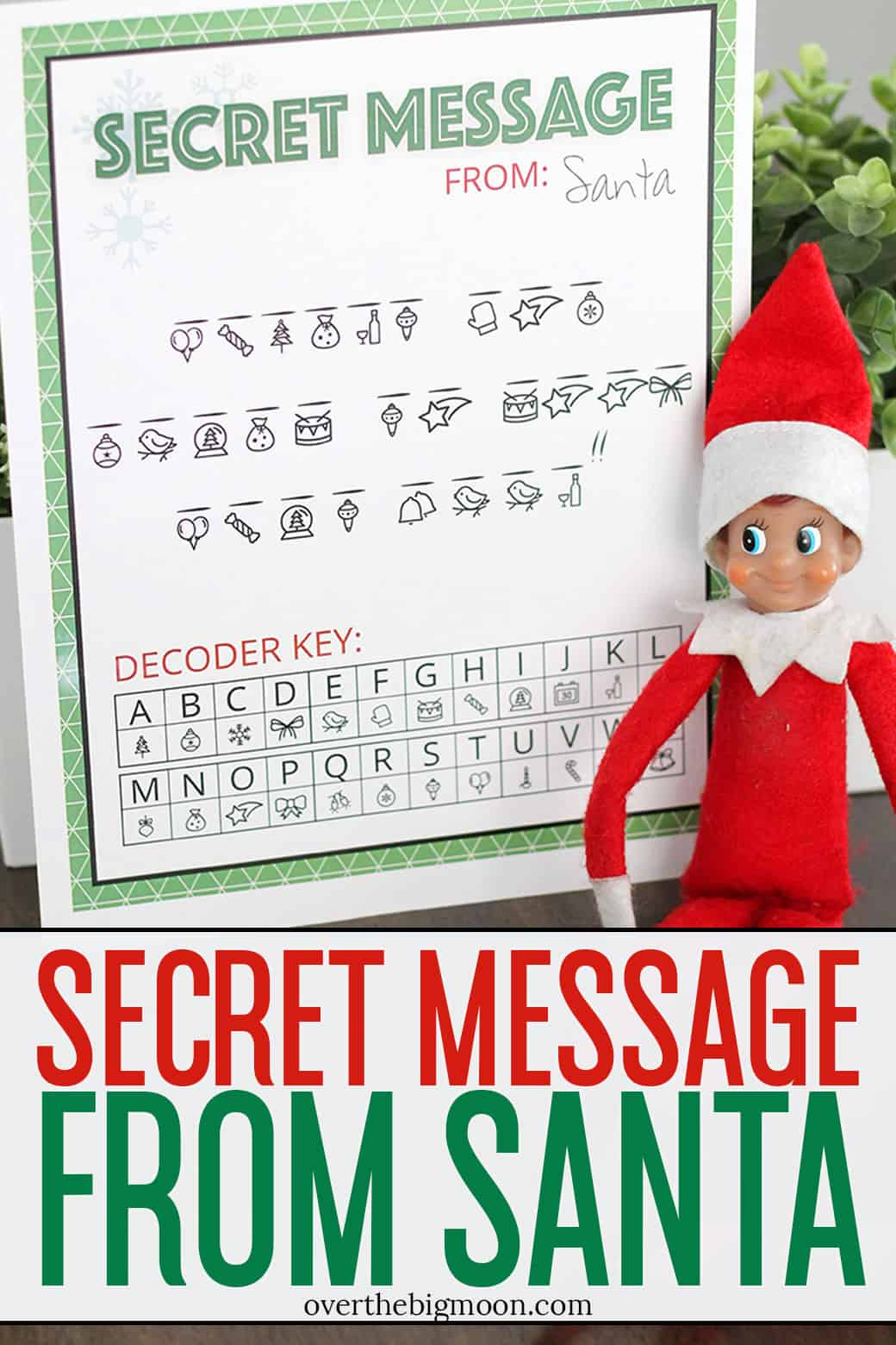 image relating to Printable Letters From Elf on the Shelf named Mystery Information in opposition to Santa Printable More than The Substantial Moon