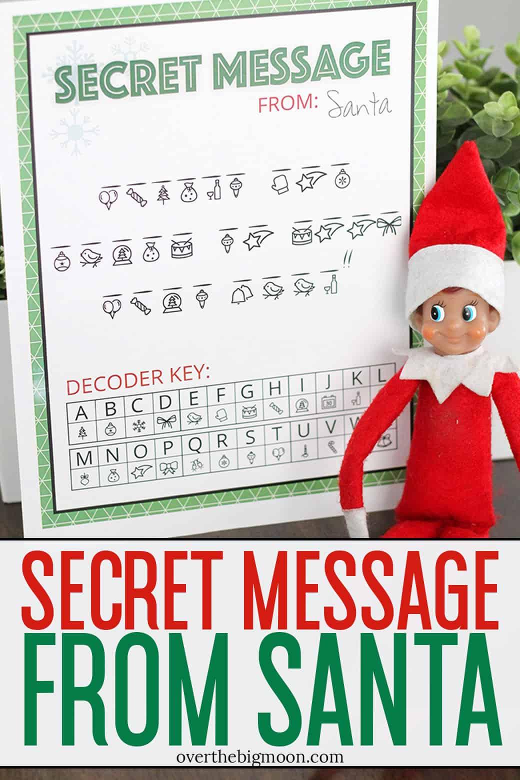 photo regarding Elf on Shelf Letter Printable called Key Information against Santa Printable Above The Substantial Moon