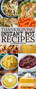 These Thanksgiving Instant Pot Recipes are all tried and true and going to help make Thanksgiving easier! I've rounded up the best sides for you to choose from! From overthebigmoon.com!