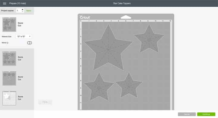 Mat Preview of Star Design Space File! From overthebigmoon.com!