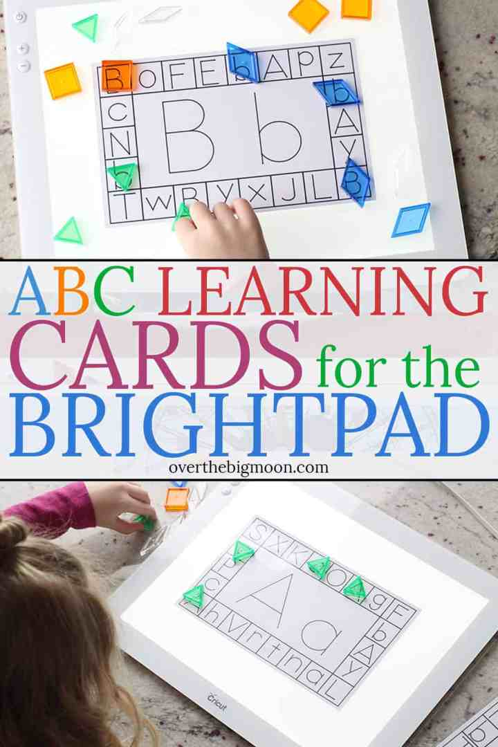 These Alphabet Learning Cards are such a fun way to help preschoolers learn the alphabet! Kids love incorporating the BrightPad to make it even more fun! From overthebigmoon.com!