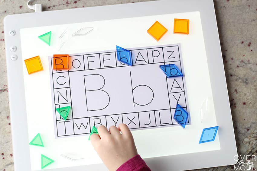Alphabet Learning Cards on Lightbox!