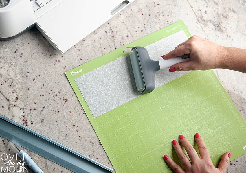 Applying Iron On to a Standard Cricut Mat. From overthebigmoon.com!
