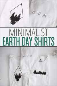 These Minimalist Earth Day Shirts are perfect for any volunteer group or nature lover! Wear them to celebrate Earth Day, as an every day shirt or they're even perfect for a hiking tee! | overthebigmoon.com