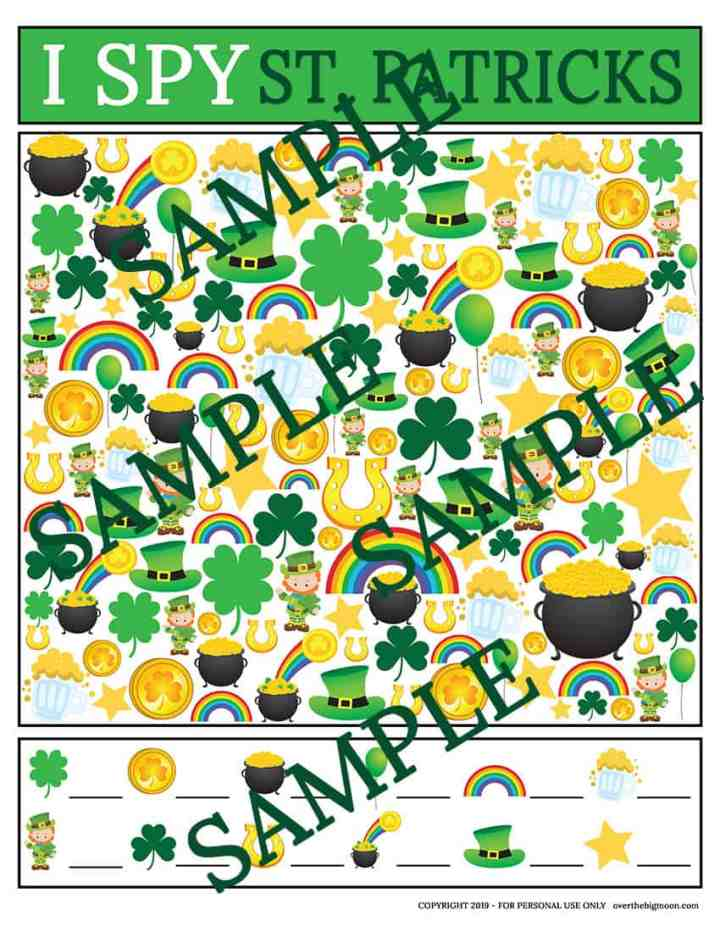 St.Patrick's Day I Spy Game