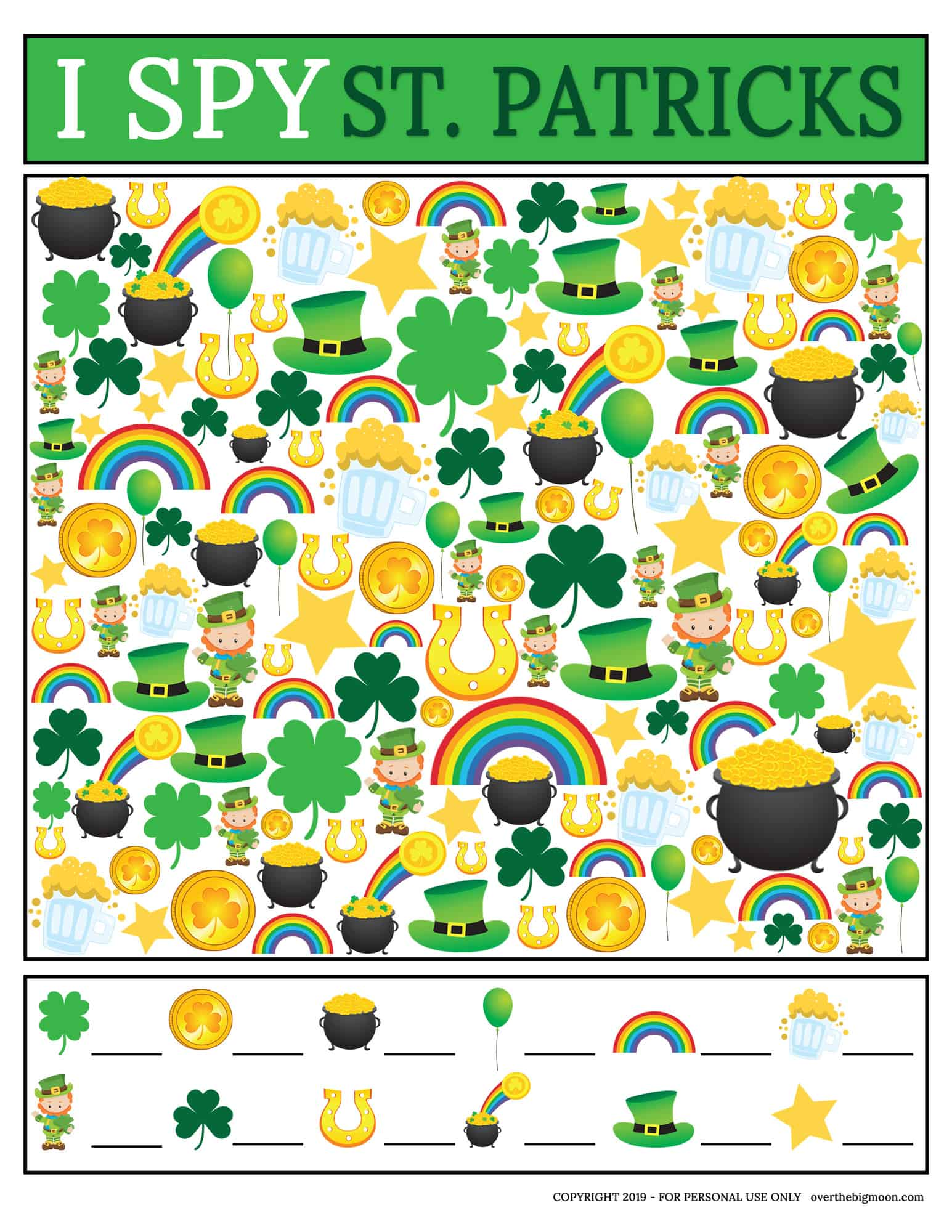 St Patrick S Day I Spy Game