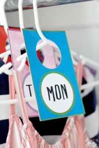 Days of the Week Clothing Tags made with Cricut Print Then Cut Feature!