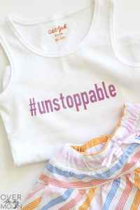 Little Girl Hashtag Shirts + other cute sayings! From overthebigmoon.com!