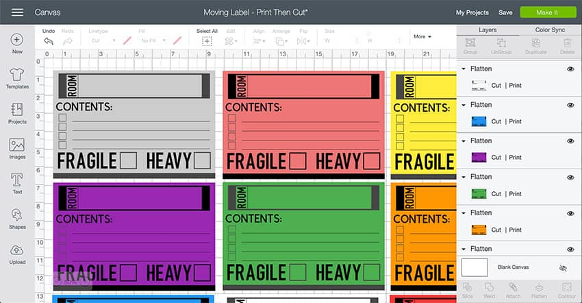 Moving Labels Design Space File