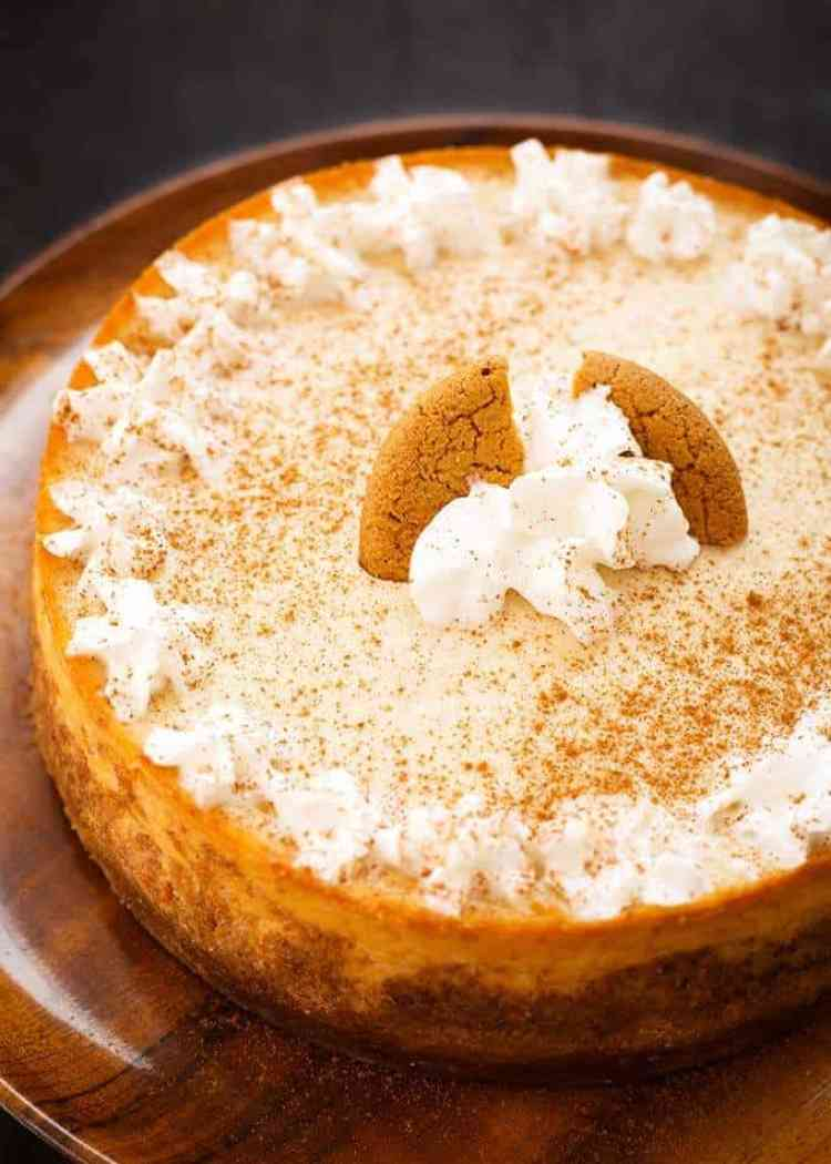 Eggnog Cheesecake made in the Instant Pot.