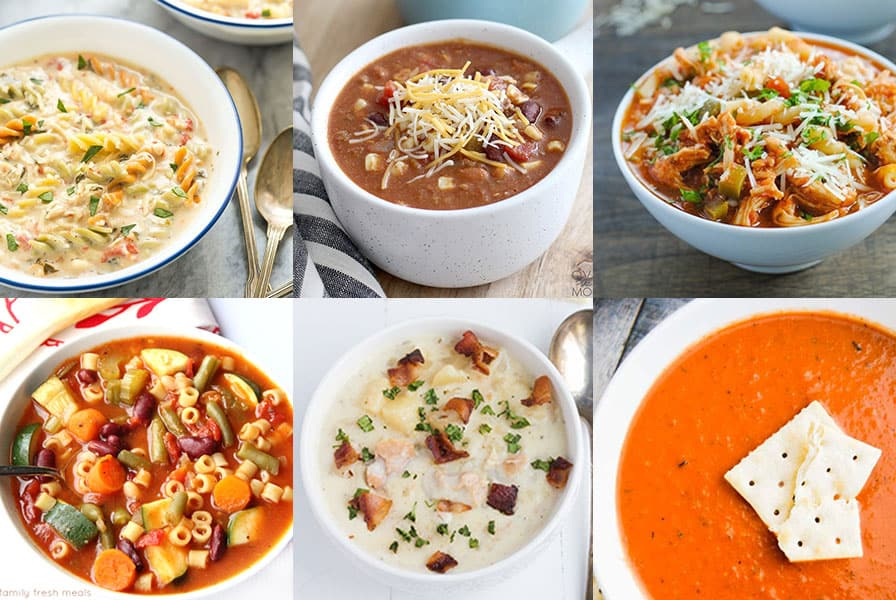 A collection of slow cooker soup recipes!