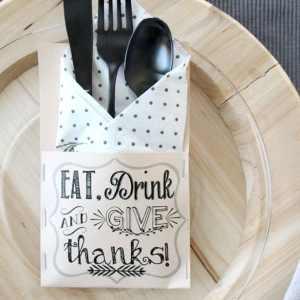 Thanksgiving Silverware Holders