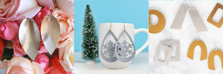 Jewelry made with the Cricut Maker and Leather.
