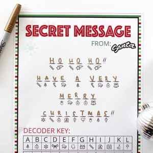 Secret Santa Message