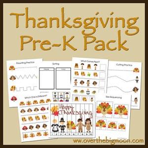 Thanksgiving Pre-K Pack