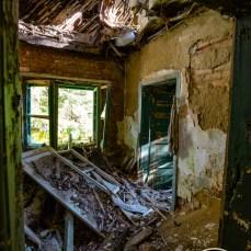 ehemals ein Hotel, heute eine Ruine,