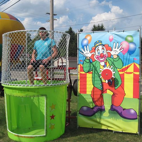 non-inflatable games rentals lime dunk tank