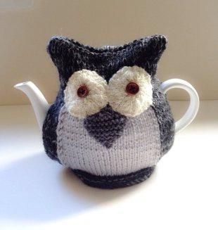 Tafferty Designs Owl Teapot Cosy - Mr Earl Grey - in Organic Wool and Alpaca mix