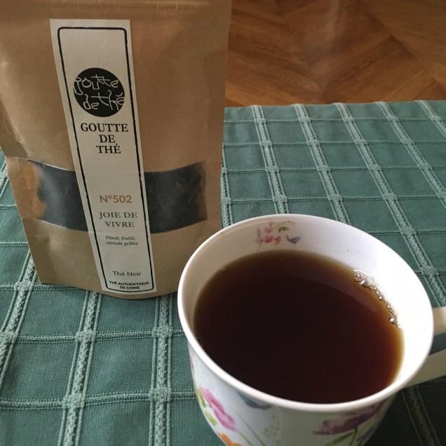 Dégustation thé noir Joie de Vivre Goutte de thé - ©Chloé Chateau