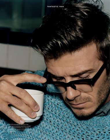 David Beckham drinks tea sexy