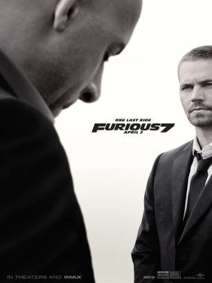 Fast and Furious 7 poster with Vin Diesel and Paul Walker