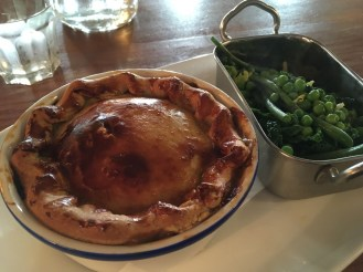 Game Pie at The Red Lion Restaurant in Grantchester