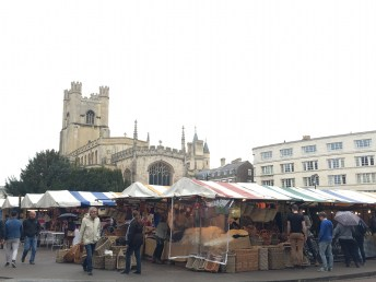 Cambridge Market on a Sunday morning