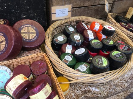 The Cheese and Pie Man stand at Cambridge Market