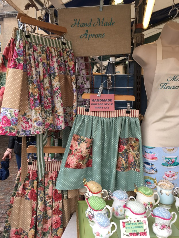 Handmade aprons on Cambridge Market