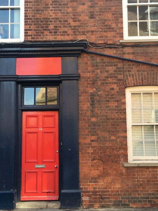 Red door in Cambridge