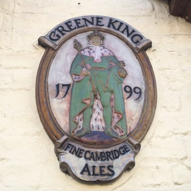 The Greene King pub sign in Cambridge
