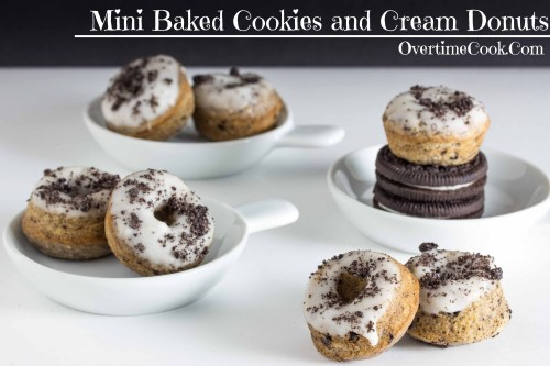 baked cookies and cream donuts on OvertimeCook
