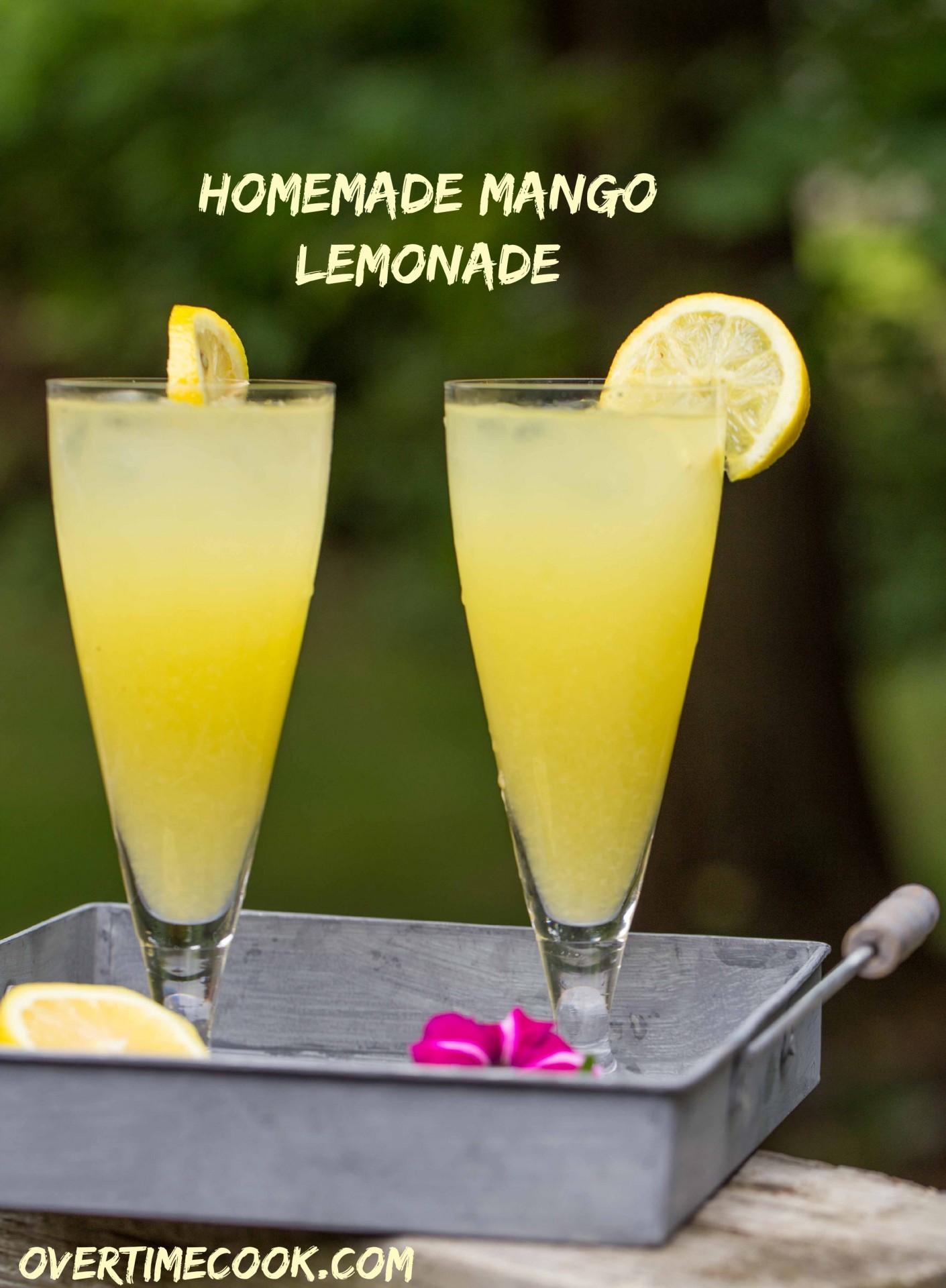 homemade mango lemonade overtime cook. Black Bedroom Furniture Sets. Home Design Ideas