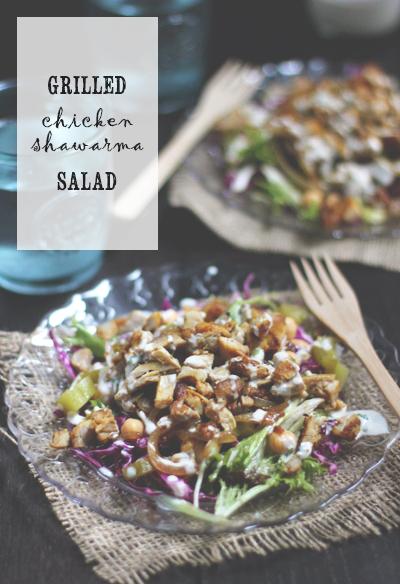 grilled chicken schwarma salad