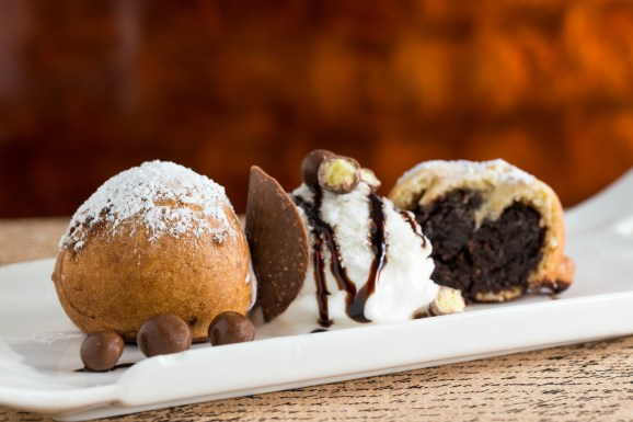 deep fried brownie fritters on overtime cook