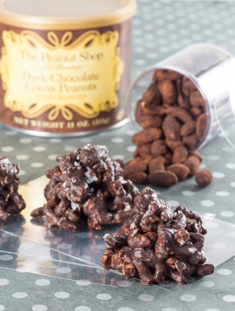 Sweet and Salty Chocolate Peanut Butter Clusters5
