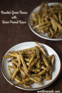 Roasted Green Beans with Asian Peanut Sauce