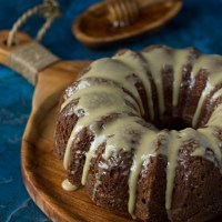 Honey Tahini Bundt Cake