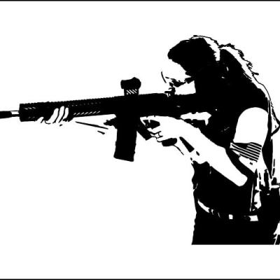Custom Shooter Female Sticker