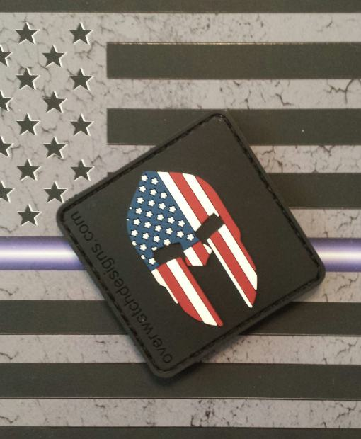 American Flag Spartan Patch