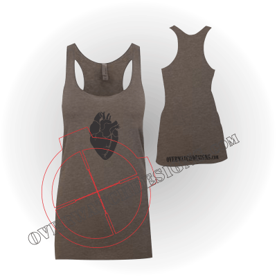 Women's Black Hearted Tank Top