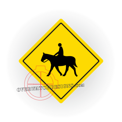 Horse Crossing Decal