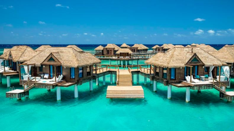 Sandals Royal Caribbean all inclusive overwater bungalows