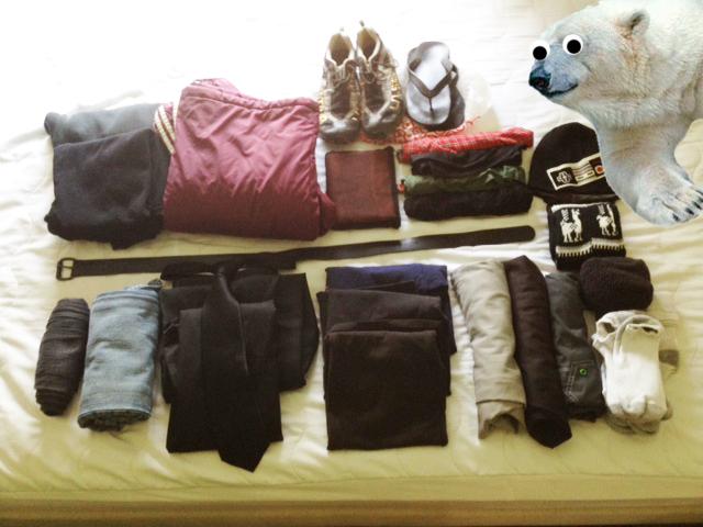 packing list man boy