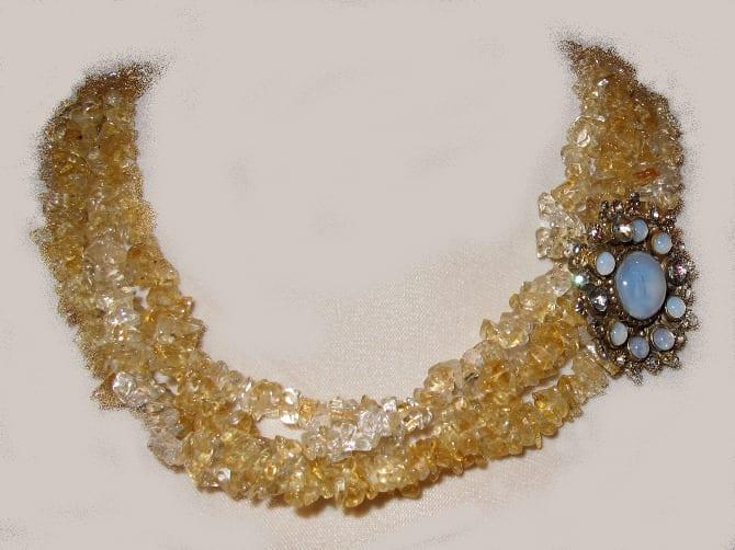 collier broche ancienne